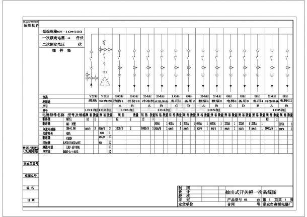 某地多层酒店配电系统设计规划方案cad图纸,共一份资料-图一