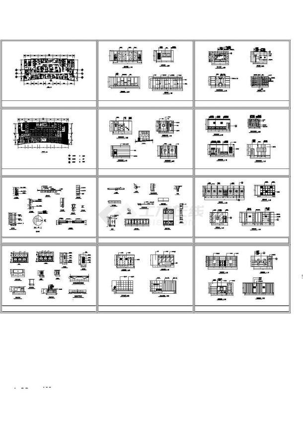 办公楼设计_北京某互联网公司单层办公楼装修设计CAD施工图-图二