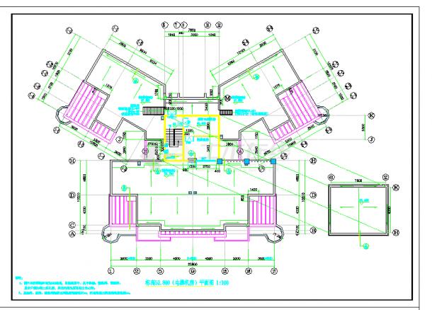 某地多层住宅楼建筑设计图纸cad-图一
