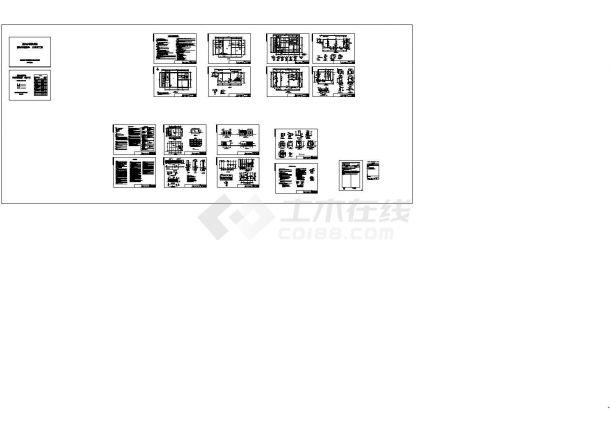 [常州]某污水泵站全套施工设计图(含沉井)(含屋顶平面图)-图一