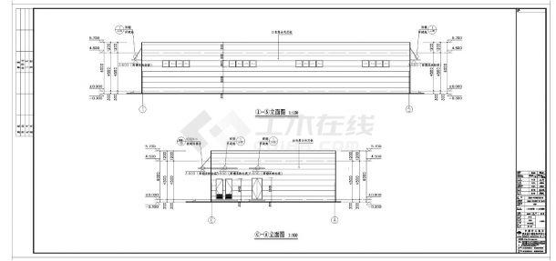 [重庆]某单层钢框架结构厂房全套施工cad图纸-图一