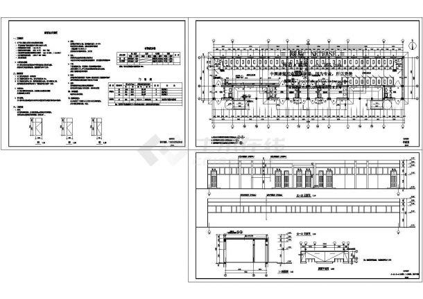 某学校师生合用公共厕所(单层砌体结构)设计cad全套建筑施工图(含设计说明)-图二