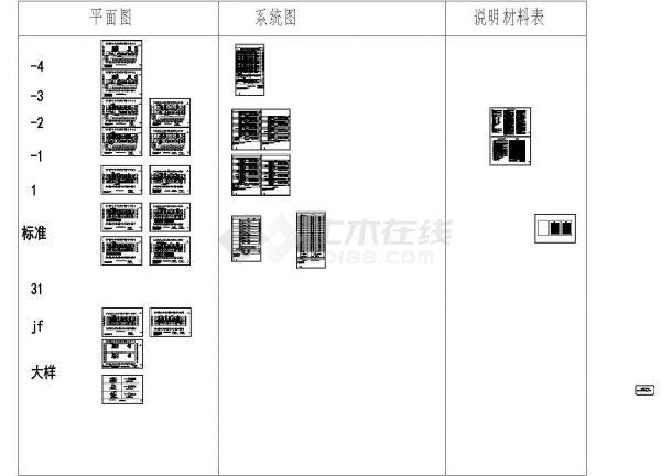 [山东]商务办公楼强弱电施工图纸80张-图一