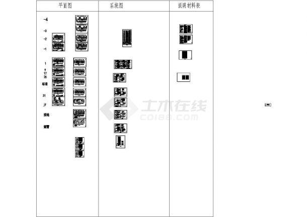 [山东]商务办公楼强弱电施工图纸80张-图二