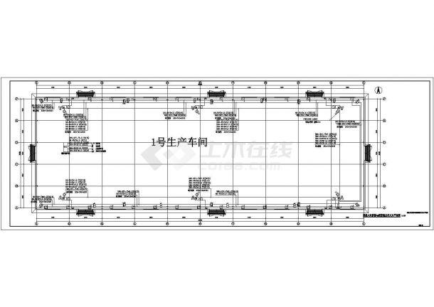 超大空间水炮电气设计图纸-图一