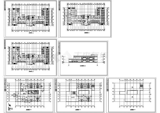 某市二层门诊楼建筑方案设计图纸-图二