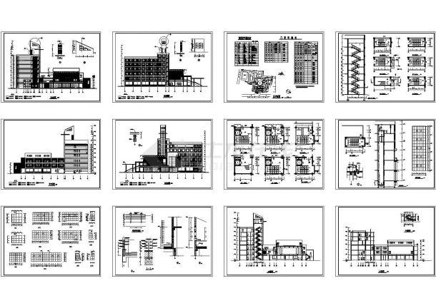 某七层文化艺术中心建筑设计方案图-图一