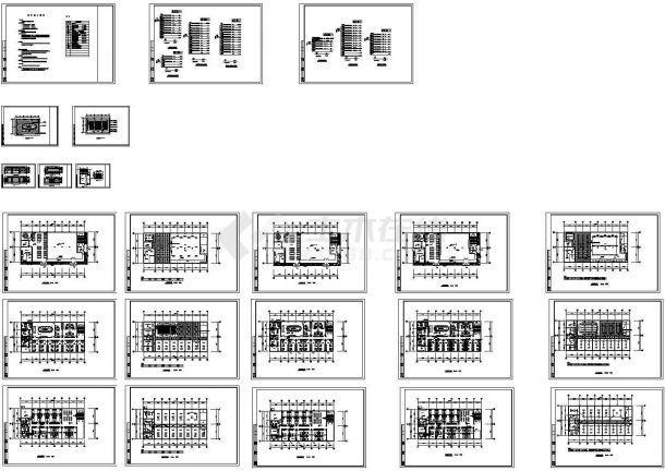 [江苏]公司办公综合楼全套装饰电气图纸-图一