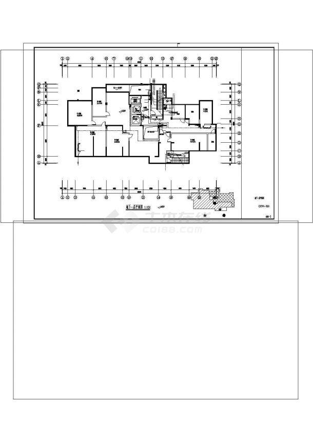 [江苏]科技城住宅区给排水施工图cad-图二