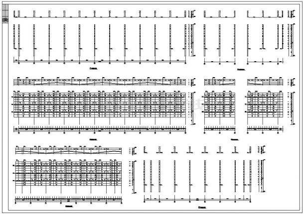 潍坊市四层钢框架钢结构家具城设坟全套施工图-图二