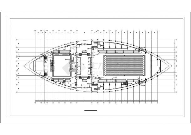 体育馆中心游泳馆跳水馆建筑CAD设计图【平立剖】-图二
