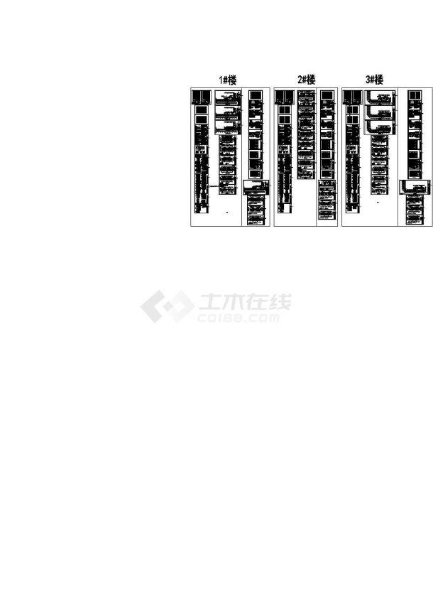 郑州市某高档小区10栋高层住宅楼全套电气设计CAD施工图-图一