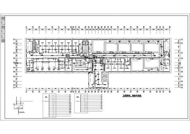 南京某医院7900平米五层框架住院手术综合楼电气CAD设计图纸-图一