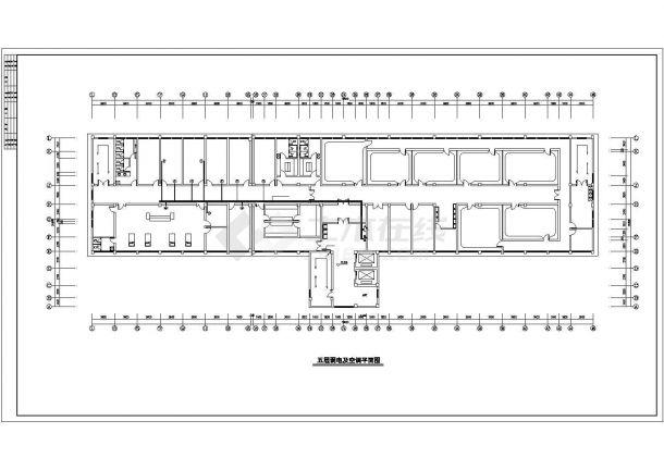 南京某医院7900平米五层框架住院手术综合楼电气CAD设计图纸-图二