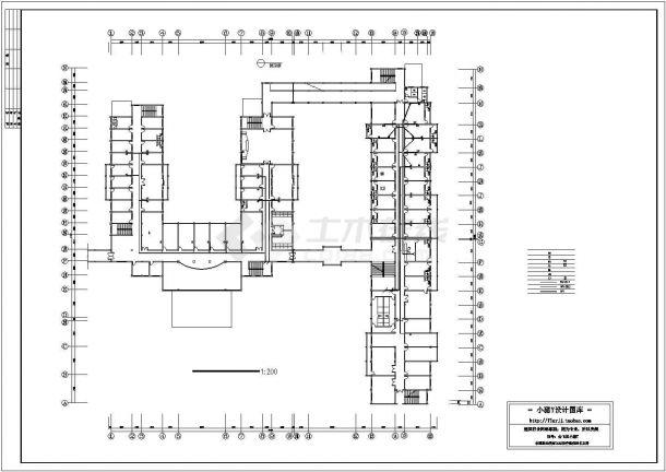 合肥市某医院3层5字型医院综合楼全套电气CAD设计图纸-图一