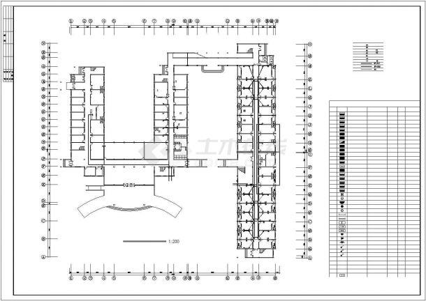 合肥市某医院3层5字型医院综合楼全套电气CAD设计图纸-图二