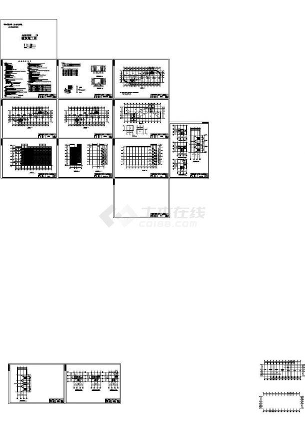 六层框架结构教学楼毕业设计图(含计算书及图纸)-图一