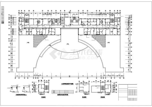 厦门市某眼科医院5层医院门急诊楼全套电气CAD设计图纸-图一