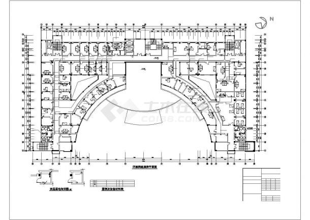 厦门市某眼科医院5层医院门急诊楼全套电气CAD设计图纸-图二