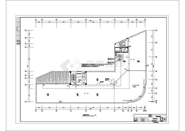 某农贸市场综合楼消防设计施工图(含火灾报警系统图,消防平面图)-图二