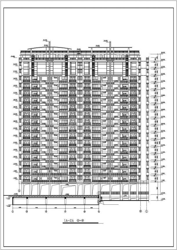 多层住宅楼总图建筑全套cad图,含效果图-图一