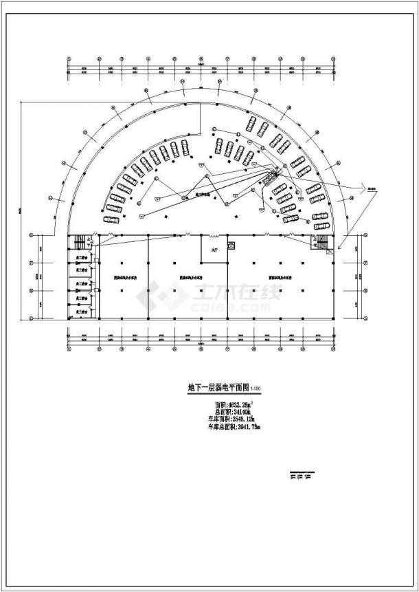 长春某地休闲宾馆弱电系统设计cad图纸,共一份资料-图二