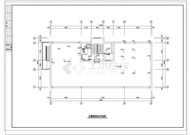 长33.28米 宽16.48米 4层医院综合楼给排水设计图-图一