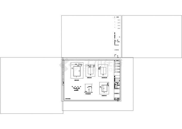 小区弱电系统cad图纸设计-图一