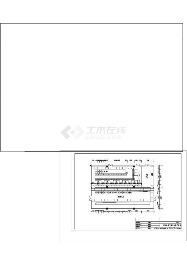 2X1600KVA变压器配电系统cad图纸设计-图一