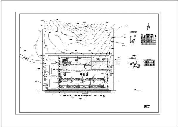 220kV变压器水喷雾cad图纸设计-图一