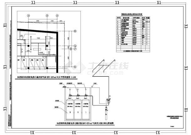 深圳某超高层办公楼给排水全套施工设计cad图纸-图一