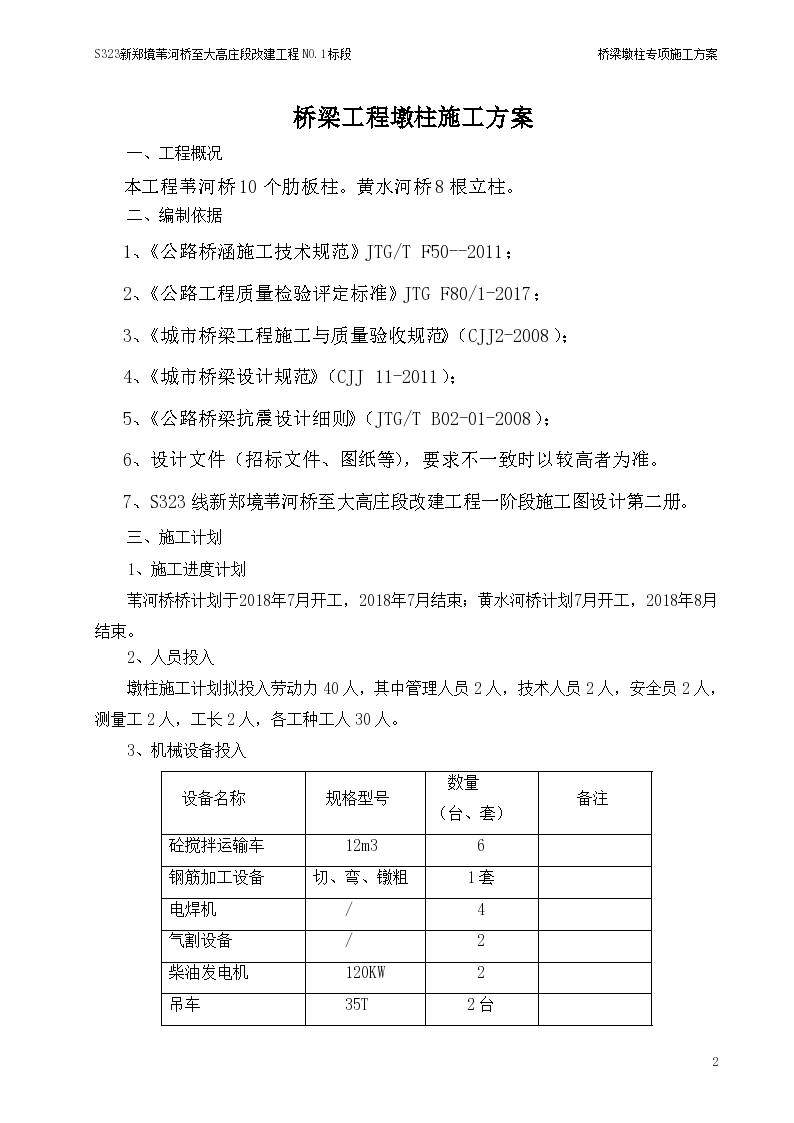 某工程墩柱工程详细施工组织设计方案-图二