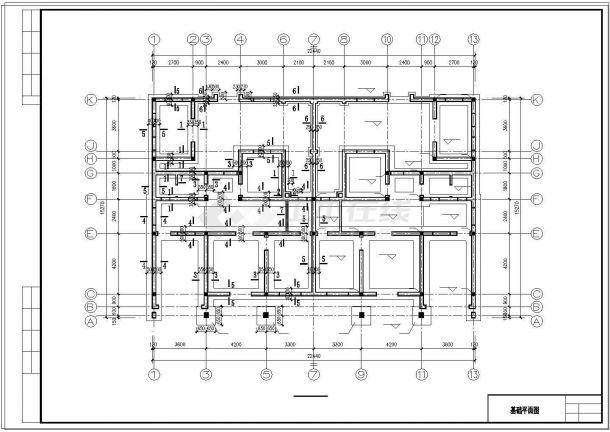 两户双联式别墅建筑结构水电全套设计施工图附效果图-图二