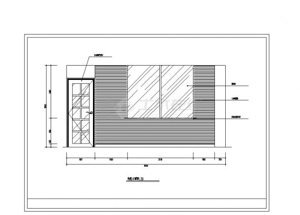 2套豪华别墅精装修设计施工cad图纸-图一