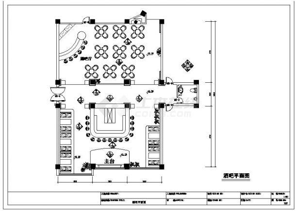 精美酒吧装修全套施工设计图纸-图二