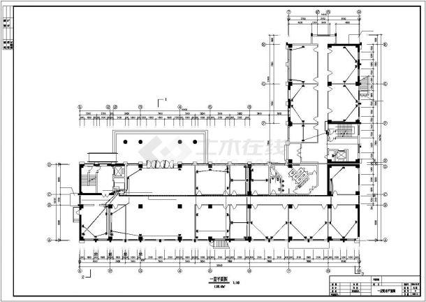 某地办公楼电气设计方案施工平面cad图纸,共一份资料-图一