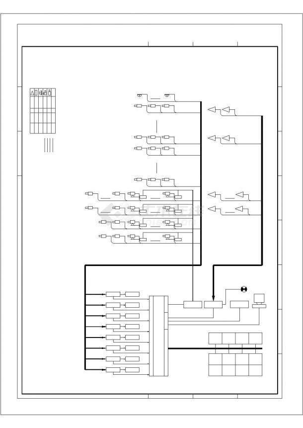 某地办公楼电气设计方案平面cad图纸,共一份资料-图一
