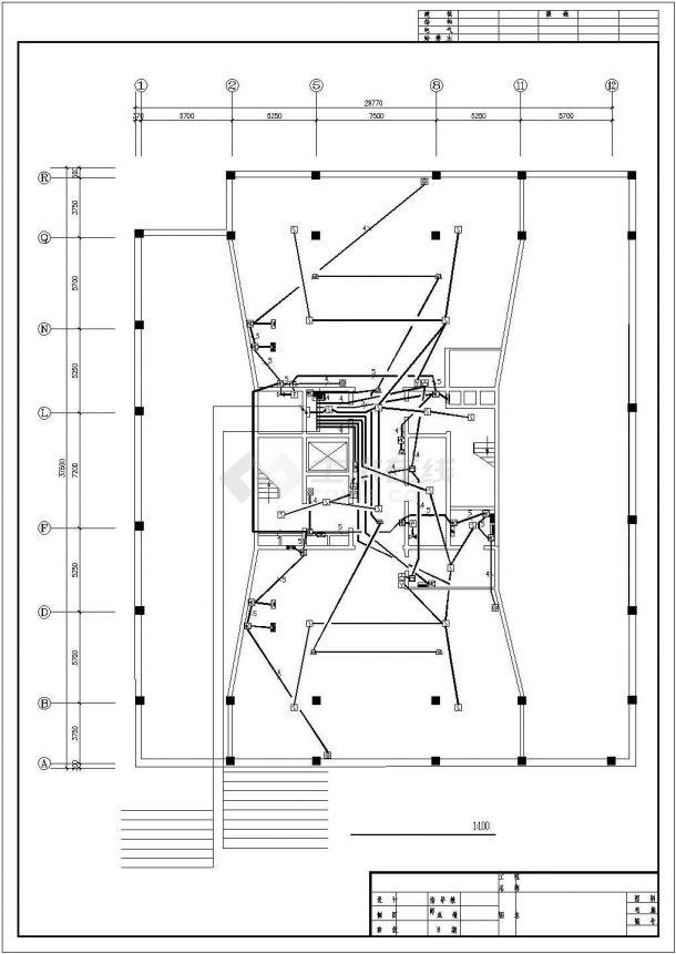 某地员工办公楼电气设计方案施工cad图纸,共一份资料-图一