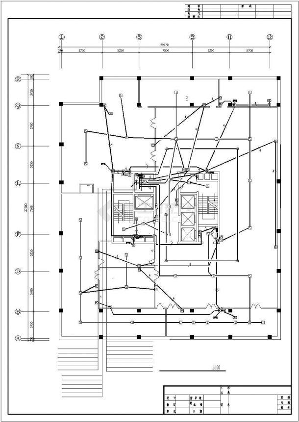 某地员工办公楼电气设计方案施工cad图纸,共一份资料-图二