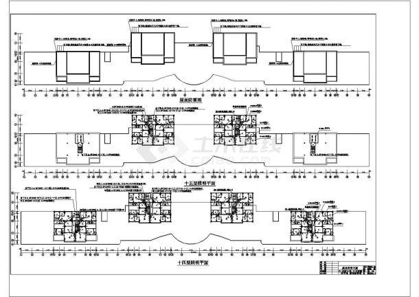 二层办公楼电气设计方案施工cad图纸,共一份资料-图一