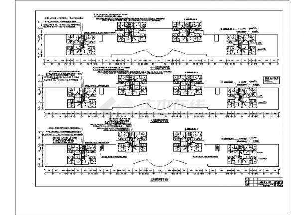二层办公楼电气设计方案施工cad图纸,共一份资料-图二
