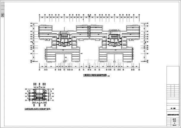 [广西]超高层住宅楼太阳能热水系统给排水施工图纸(光伏系统)cad图纸-图一