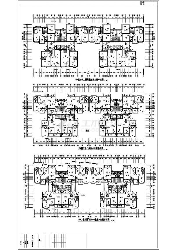 [广西]超高层住宅楼太阳能热水系统给排水施工图纸(光伏系统)cad图纸-图二