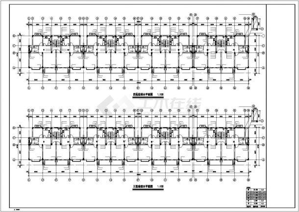[浙江]多层住宅小区给排水施工图cad 图纸-图二