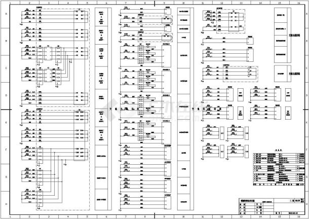 220kV变电站全套电气原理图纸-图二