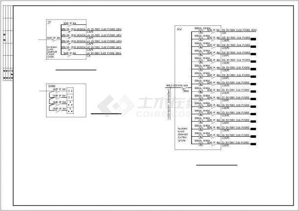 某地办公楼电气设计施工方案cad图纸,共一份资料-图一