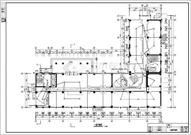 某地三层办公楼电气设计方案cad图纸,共一份资料-图一