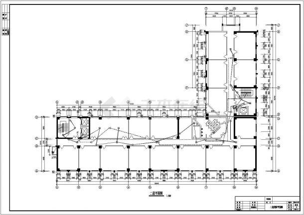 某地三层办公楼电气设计方案cad图纸,共一份资料-图二