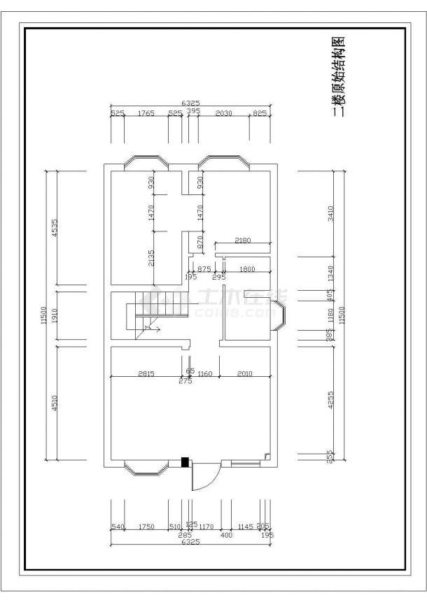 某地区三层小型别墅室内装修设计平面cad图-图一