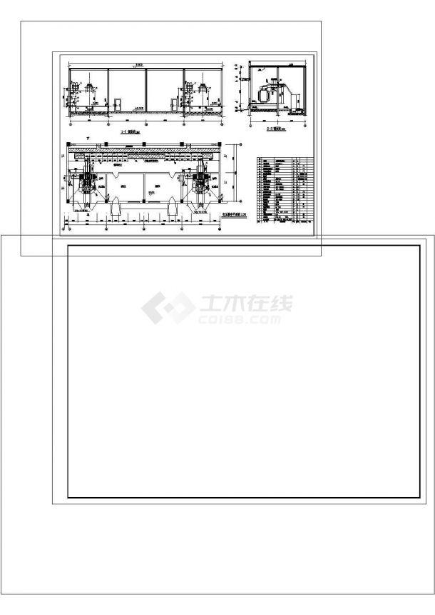 油浸变压器室布置cad图纸设计-图二